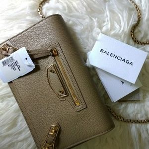 Balenciaga Metallic Edge Wallet on Chain